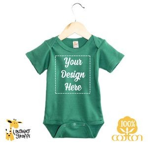 The Laughing Giraffe® Baby Bright Color Short Sleeve Bodysuit